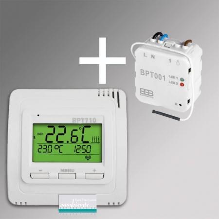 infrarotheizung steuerung funk thermostat set bpt710 bpt001. Black Bedroom Furniture Sets. Home Design Ideas