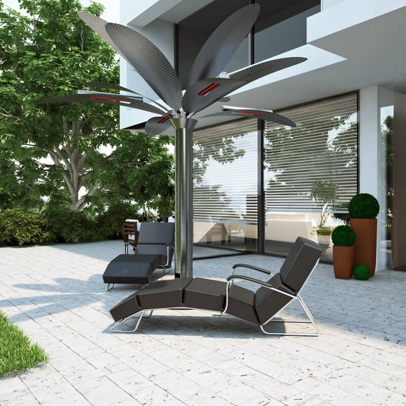 infrarot heizstrahler k nigspalme edelstahl mit v2a 3x 1500 watt. Black Bedroom Furniture Sets. Home Design Ideas