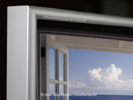 Infrarot bildheizung 400 watt mit alurahmen 10 mm fenster hf for Fenster 70x60