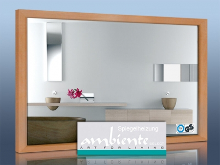 infrarotheizung 500 watt 90 x 60 cm wei mit holzrahmen buche. Black Bedroom Furniture Sets. Home Design Ideas