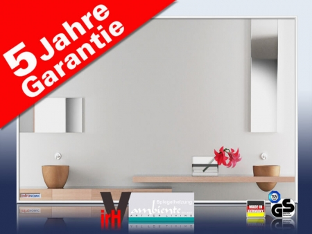 infrarot spiegelheizung 500 watt 90 x 60 cm. Black Bedroom Furniture Sets. Home Design Ideas