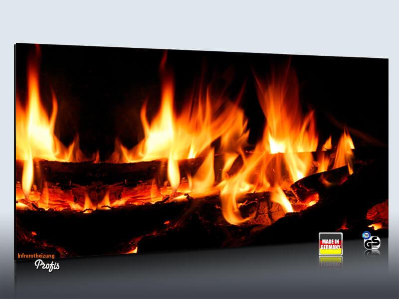 infrarot bildheizung rahmenlos 700 watt kaminfeuer. Black Bedroom Furniture Sets. Home Design Ideas