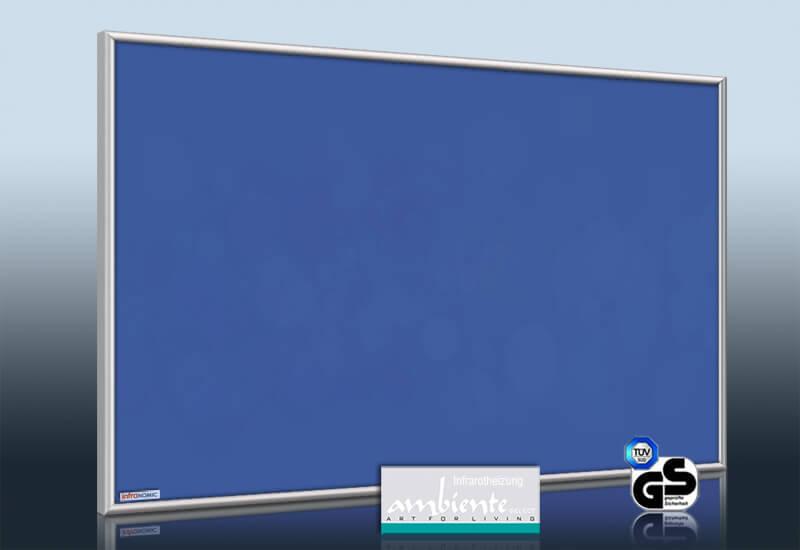 infrarotheizung 500 bis 900 watt farbig ral verkehrsblau. Black Bedroom Furniture Sets. Home Design Ideas
