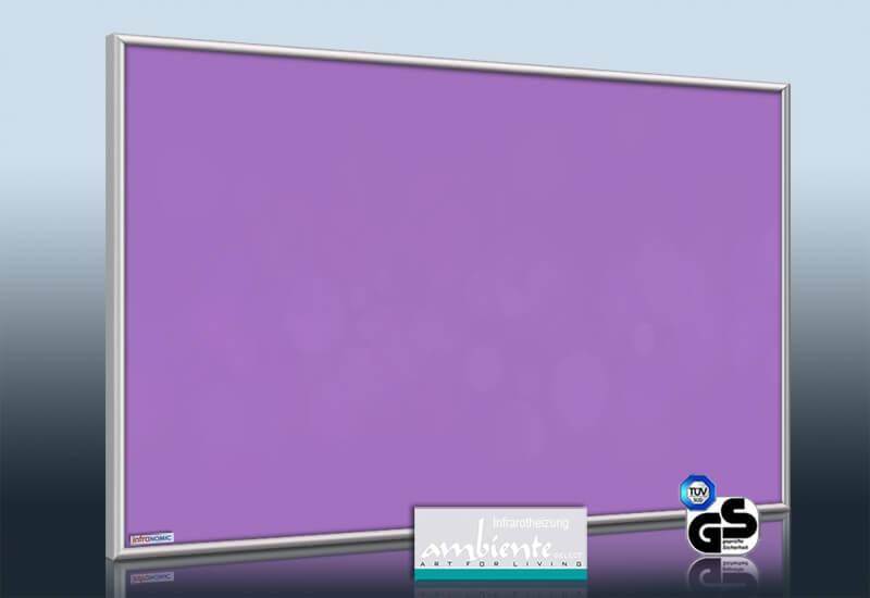 infrarotheizung 500 bis 900 watt farbig ral verkehrspurpur. Black Bedroom Furniture Sets. Home Design Ideas