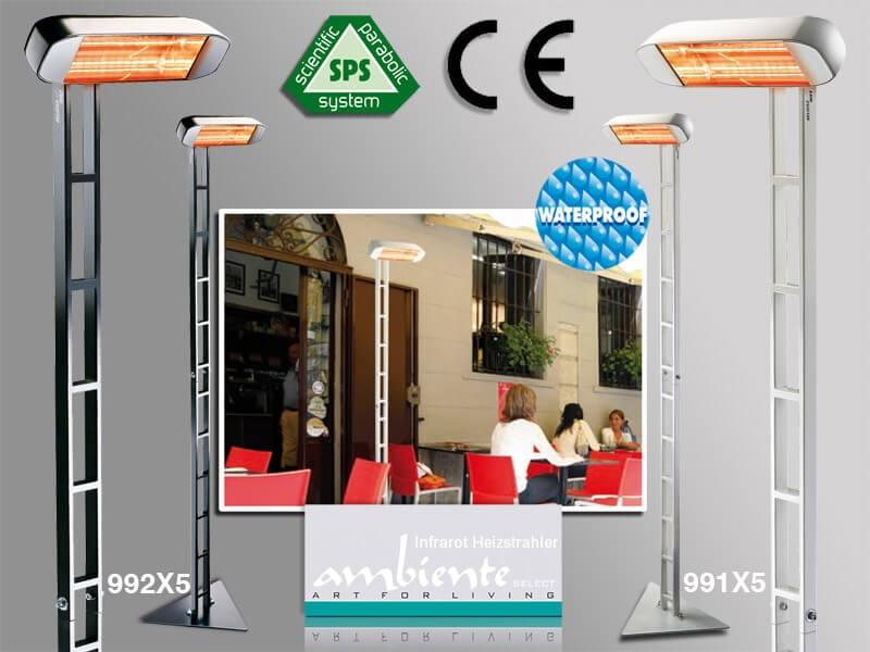 infrarot heizstrahler heliosa hidesign 991x5 992x5 1500 watt mit stativ scala. Black Bedroom Furniture Sets. Home Design Ideas