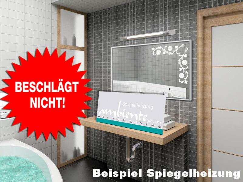 infrarot spiegelheizung 700 watt 120 x 60 cm alurahmen 10. Black Bedroom Furniture Sets. Home Design Ideas