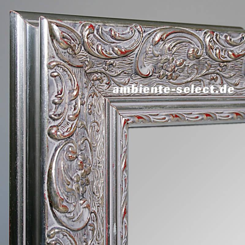 design heizk rper spiegel 900 watt 140 x 60 mit zierrahmen silberfarben. Black Bedroom Furniture Sets. Home Design Ideas